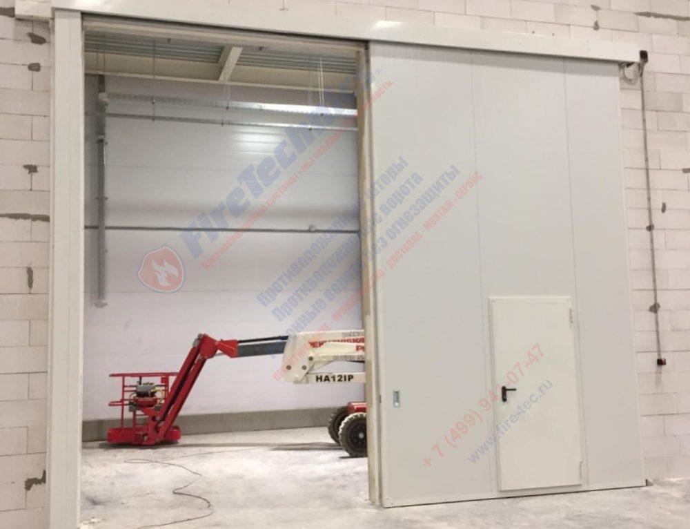Откатные противопожарные ворота FireTechnics-Р EI60, Складской комплекс